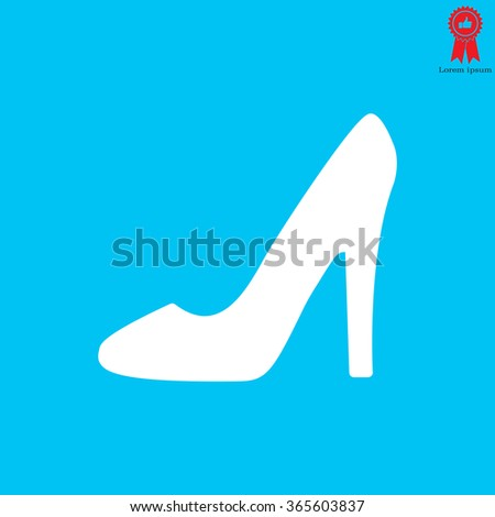 heel shoes - vector icon