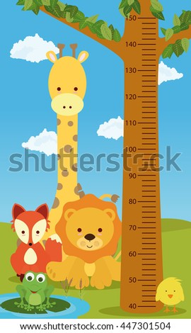 Height chart animals