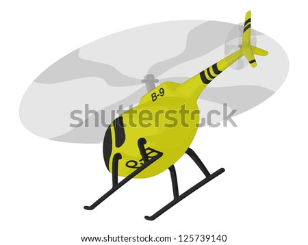 Helicopter (in flight) - stock vector
