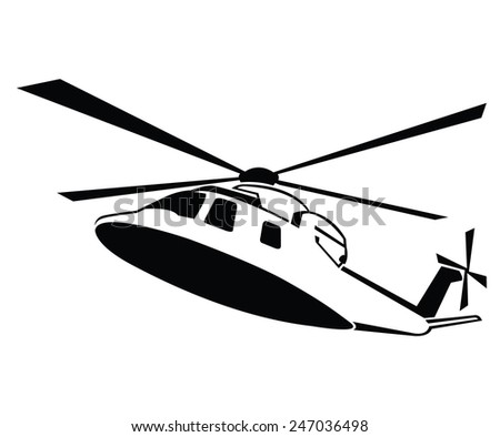 Helicopter Symbol - stock vector