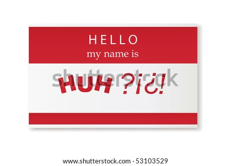 hello - stock vector