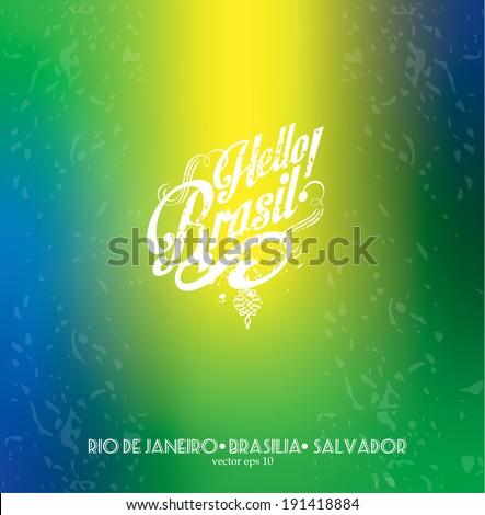 Hello Brazil! - stock vector