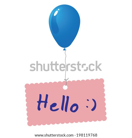 Hello card vector - stock vector
