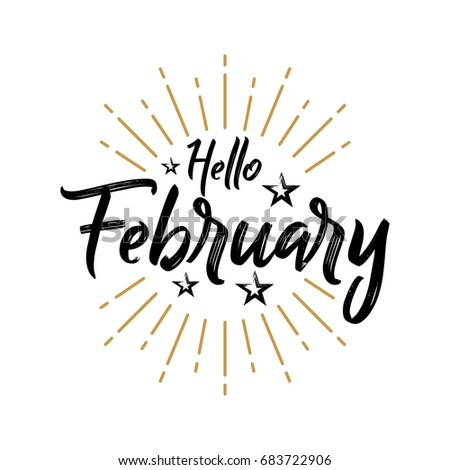 Hello february firework vector greeting new stock vector 683722906 hello february firework vector for greeting new month m4hsunfo
