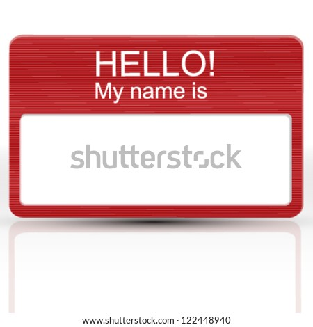 hello my name is card.  business card vector design - stock vector