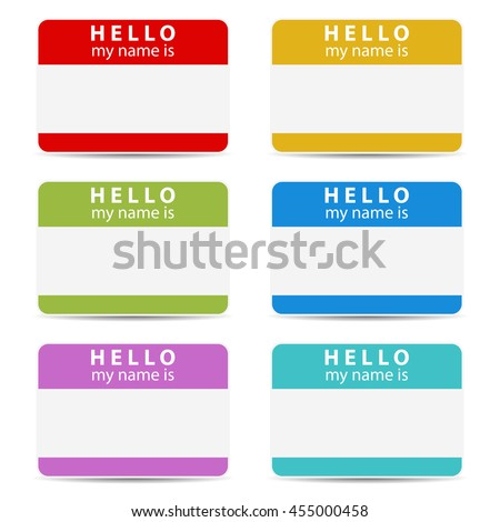 Hello my name is color set tags