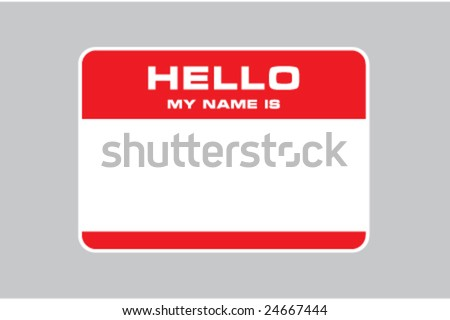 hello my name is, name card vector - stock vector