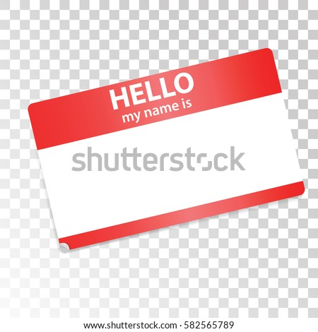 Red white sticker on transparent background isolated design