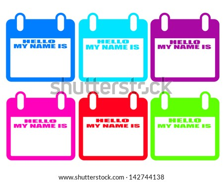 Hello Name Tag - Vector illustration - stock vector