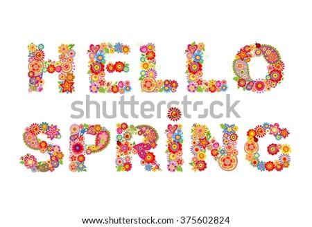 Hello, spring! - stock vector