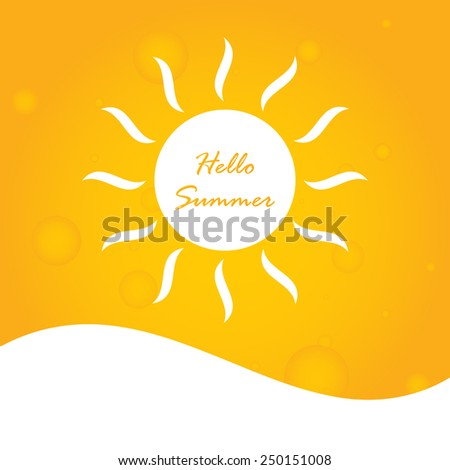 hello summer abstract background - stock vector
