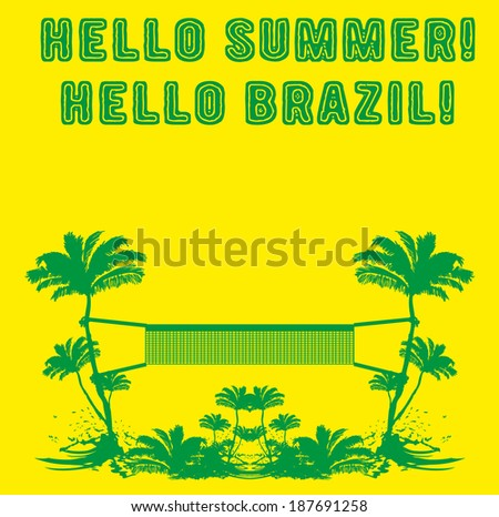 hello summer hello brazil vector art