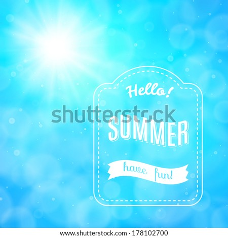 Hello summer, vector background