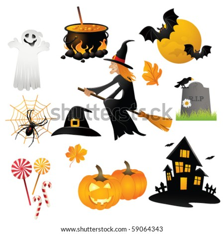 helloween icon - stock vector