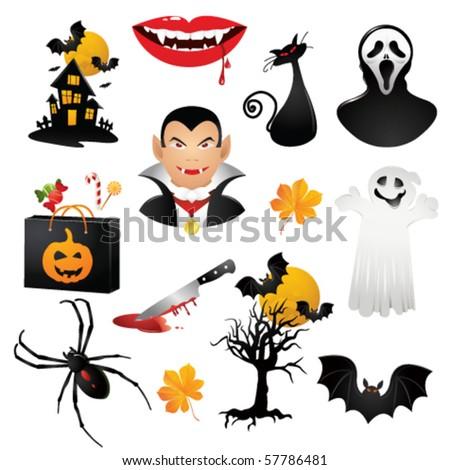 helloween icons. Vector - stock vector