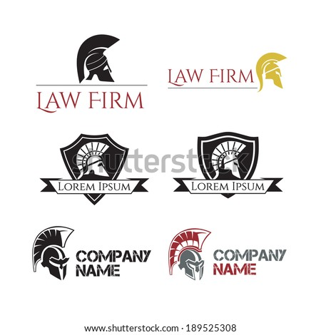 Helm Gladiator signs and labels - stock vector