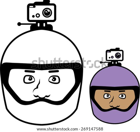 Helmet Camera - stock vector