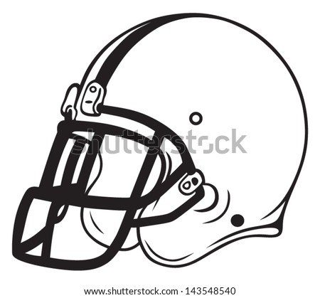 Football Helmet Outline Helmet Football Isolated on