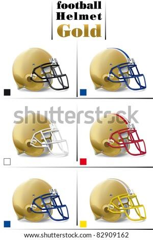 helmet football team - stock vector