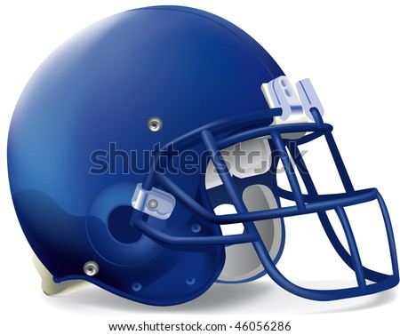 helmet football team blue super