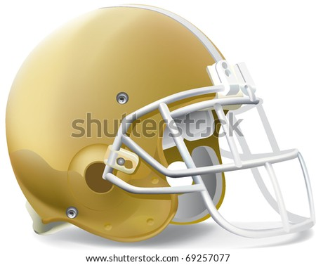 helmet football team Gold & Withe mask