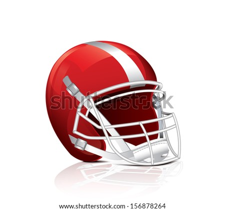 Helmet For Rugby - stock vector