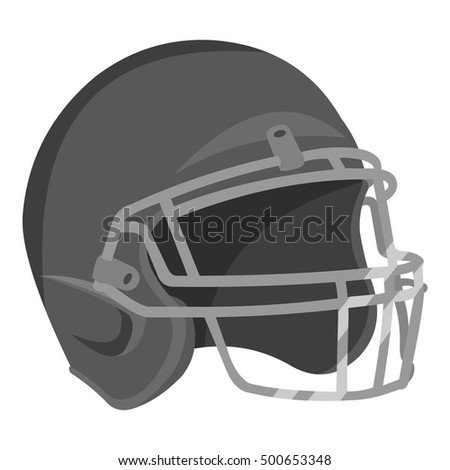 Helmet icon monochrome. Single sport icon from the big fitness, healthy, workout monochrome.