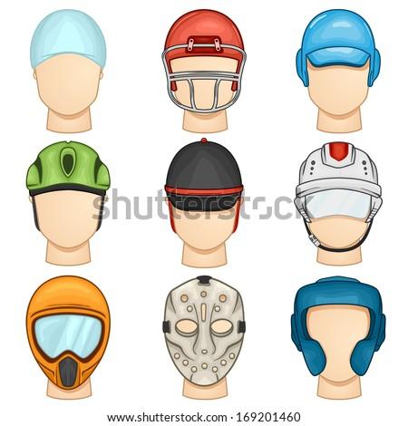 Helmet Icon - Sport - Illustration - stock vector