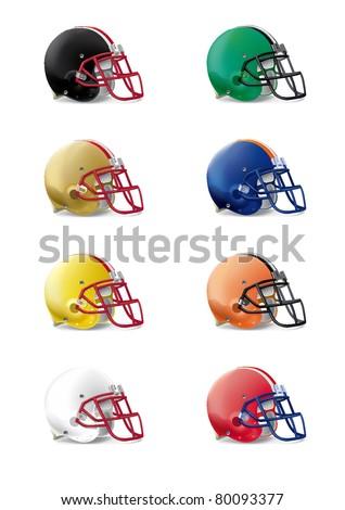 helmets football team - stock vector