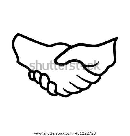 Help concept represented by hand shake icon. Isolated and flat illustration