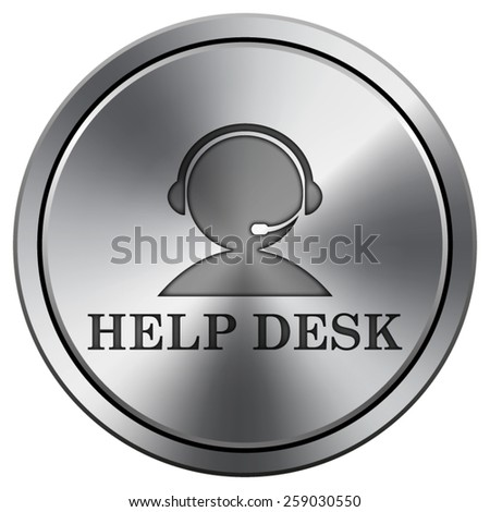 Helpdesk icon. Internet button on white background. EPS10 Vector.  - stock vector