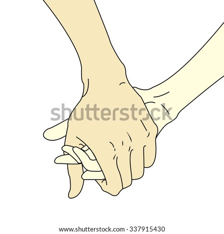 Helping hands. Vector illustration background - stock vector