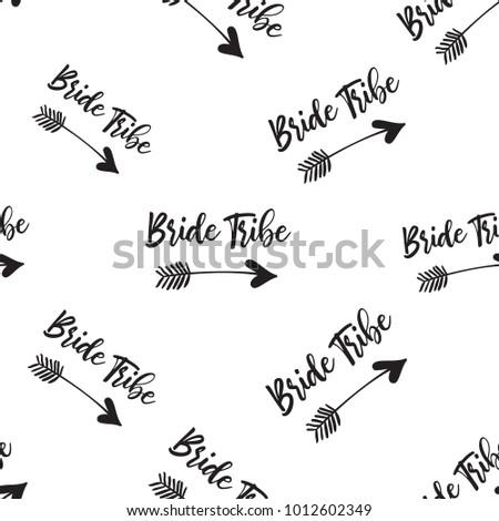 hen bachelorette party vector seamless pattern stock vector royalty