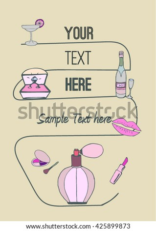 Hen-party / Bachelorette party poster, template