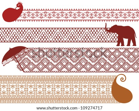henna inspired banners borders - photo #3