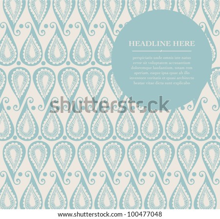Henna Indian Art Wrapping paper Greeting Gift Vector Pattern Beauty Background Abstract Greeting Card Invites Design Traditional Culture Template Design Layout - stock vector