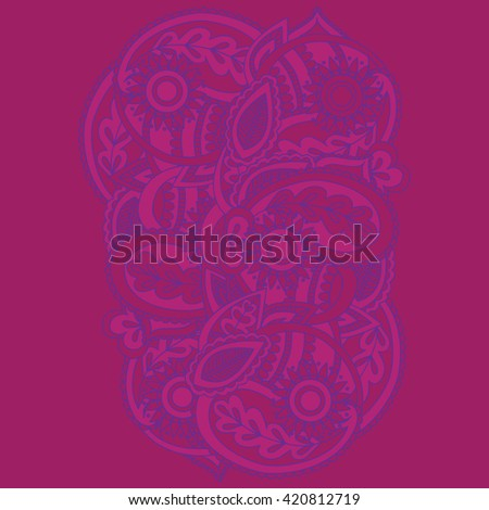 Henna mehndi card template mehndi invitation stock vector henna mehndi card template mehndi invitation design element for decoration cards floral line stopboris Images
