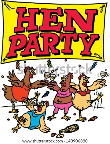 Hens Party - stock vector