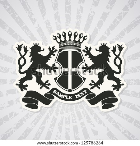 Heraldic coat of arms - stock vector