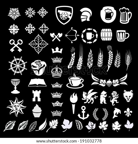 heraldic design vector elements, heraldry - stock vector