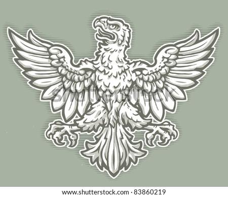 Heraldic Eagle - stock vector