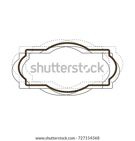 heraldic monochrome silhouette decorative frame and dotted vector illustration