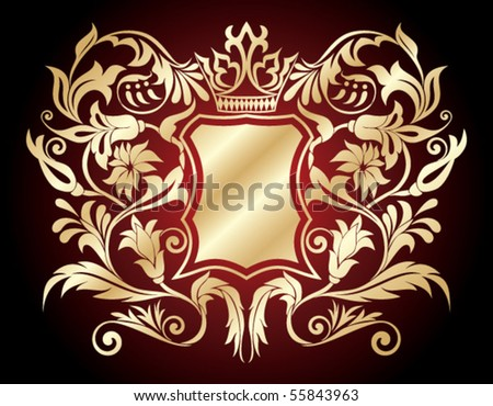 heraldic shield - stock vector