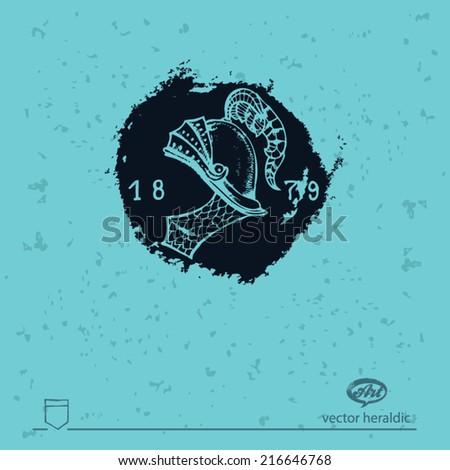 heraldic spot - stock vector
