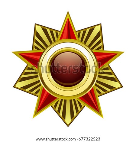 Heraldic star on a white background