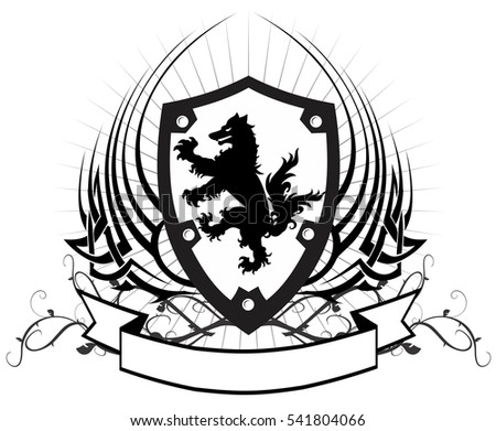 heraldic wolf coat arms crest tattoo stock vector hd royalty free rh shutterstock com family crest vector free download crest logos vector free