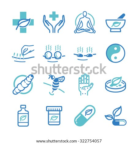 Herb and Alternative Medicine icons set