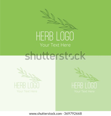 herb logo,Vector Logo Template - stock vector
