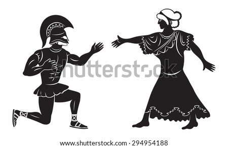 Hercules makes a proposal to the wedding - stock vector