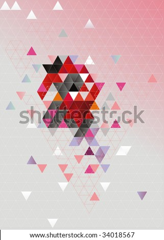 Here is represented an abstract background. It consists of triangles. - stock vector